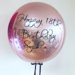 Personalised Rose Gold Helium Orbz Balloon